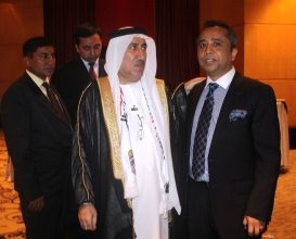 With the Ambassador of the United Arab Emirates H.E. Dr. Saeed Bin Hajar Al Shehi at the Reception accorded by the Ambassador on the Occassion of 44th Anniversar of National Day of U.A.E..jpg