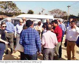 Diplomats visit Rohingya camp (Dainik Jugantor).jpg